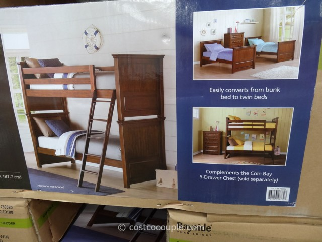 Bayside Furnishings Cole Bay Twin Over Twin Bunkbed