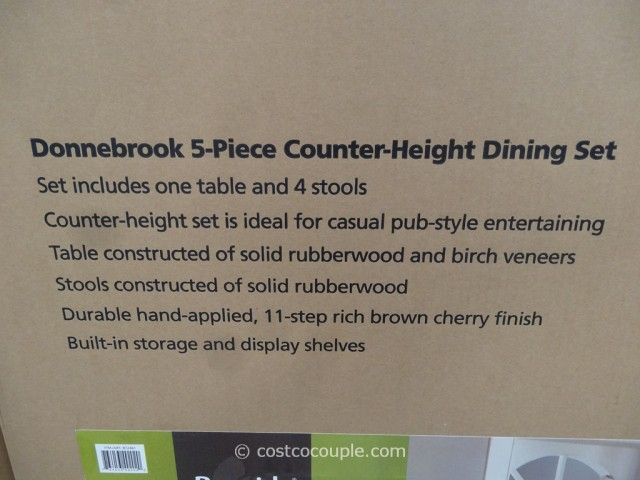 Bayside Furnishings Donnebrook Counter Height Dining Set Costco 2