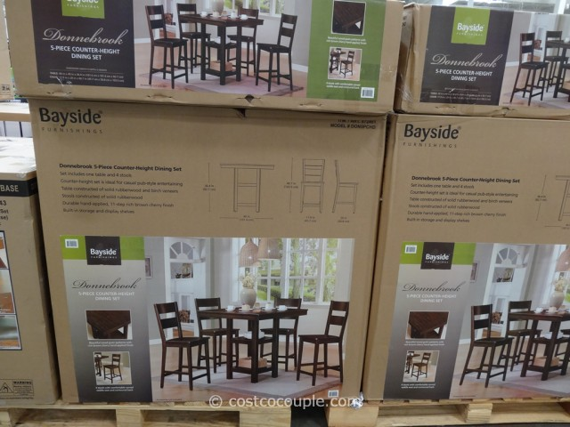 Bayside Furnishings Donnebrook Counter Height Dining Set Costco 5