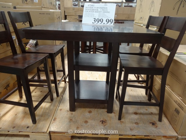 Bayside Furnishings Donnebrook Counter Height Dining Set Costco 7
