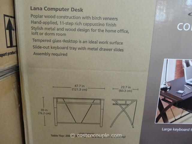 Bayside Furnishings Lana Computer Desk Costco 3