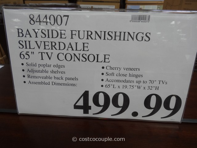 Bayside Furnishings Silverdale 65-Inch TV Console Costco 1