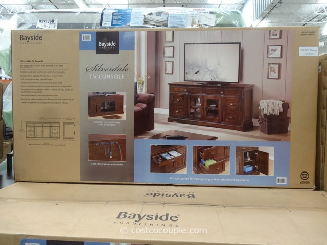 Bayside Furnishings Silverdale 65-Inch TV Console Costco 3