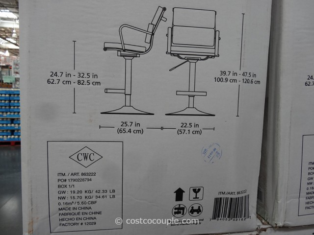 Bayside Furnishings Supremo Gas Lift Bar Stool Costco 2