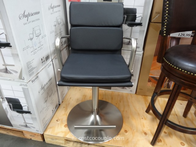 Bayside Furnishings Supremo Gas Lift Bar Stool Costco 4