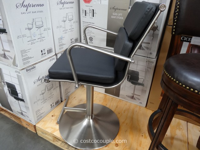 Bayside Furnishings Supremo Gas Lift Bar Stool Costco 5