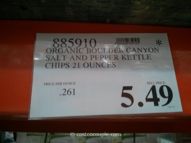 Boulder Canyon Organic Salt And Pepper Kettle Chips Costco 1