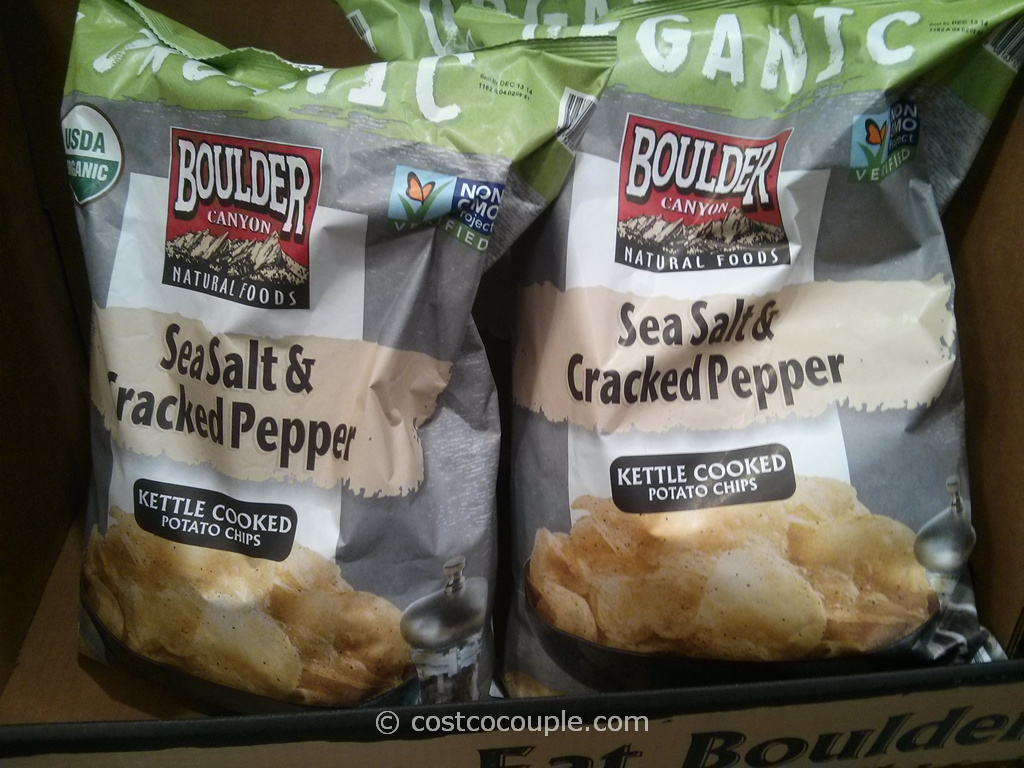 Boulder Canyon Organic Salt And Pepper Kettle Chips Costco 2
