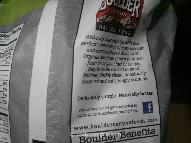 Boulder Canyon Organic Salt And Pepper Kettle Chips Costco 6