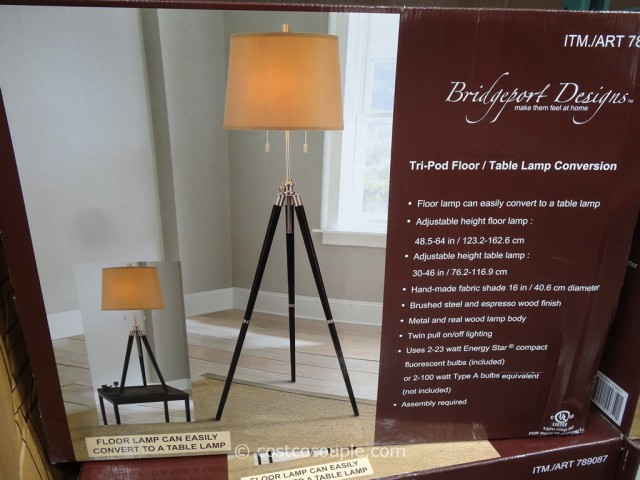 bridgeport designs tripod floor table lamp. Black Bedroom Furniture Sets. Home Design Ideas