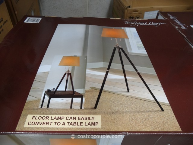 Bridgeport Designs Tripod Floor Table Lamp