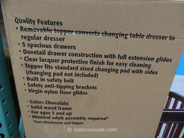Cafe Kid Jamison Changing Table Dresser Costco 4