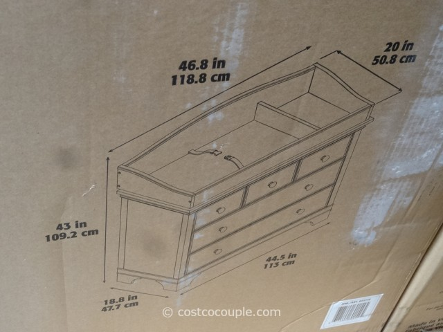Cafe Kid Jamison Changing Table Dresser Costco 5