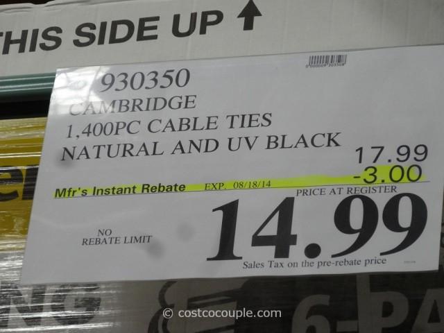 Cambridge Multi-Purpose Cable Ties Costco 1