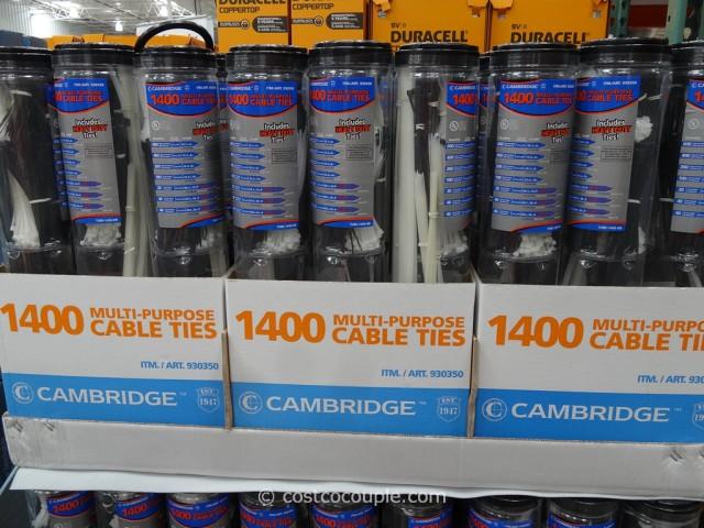 Cambridge Multi-Purpose Cable Ties Costco 4