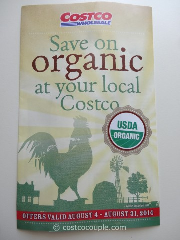 Costco August 2014 Organic Instant Savings 1