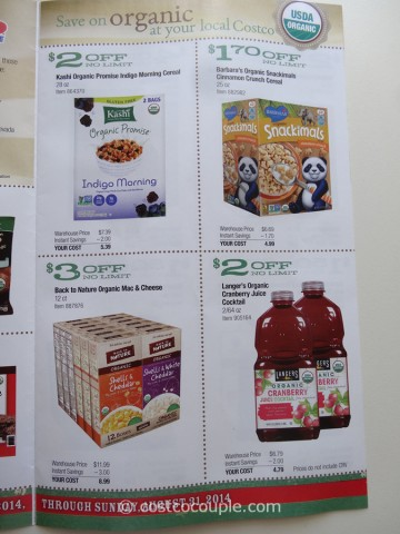 Costco August 2014 Organic Instant Savings 3