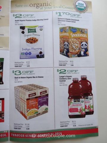 Costco August 2014 Organic Instant Savings 3