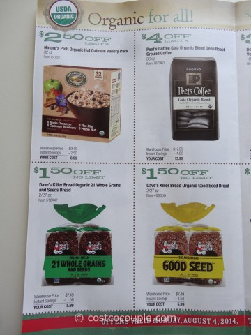 Costco August 2014 Organic Instant Savings 4