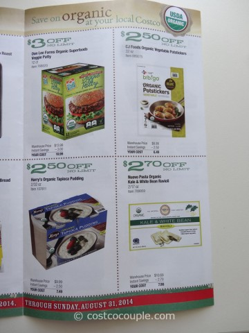 Costco August 2014 Organic Instant Savings 5