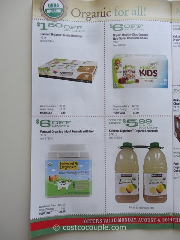 Costco August 2014 Organic Instant Savings 6