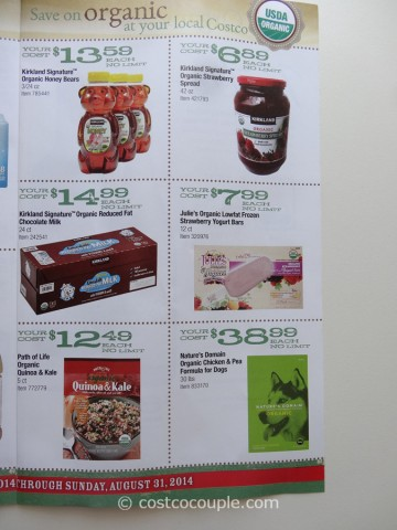 Costco August 2014 Organic Instant Savings 7