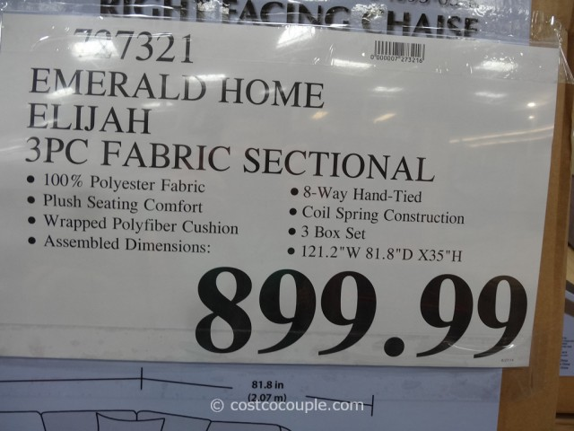 Emerald Home Elijah Sectional Costco 3