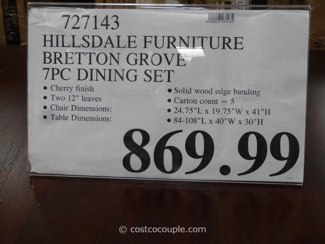 Hillsdale Furniture Bretton Grove 7-Piece Dining Set Costco 10
