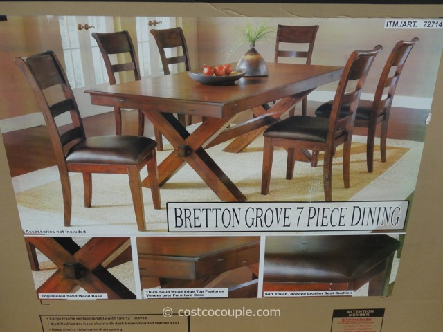 Hillsdale Furniture Bretton Grove 7-Piece Dining Set Costco 2