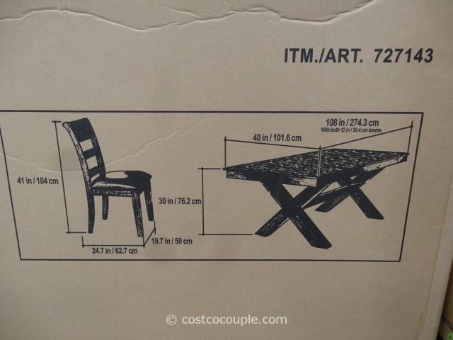 Hillsdale Furniture Bretton Grove 7-Piece Dining Set Costco 4