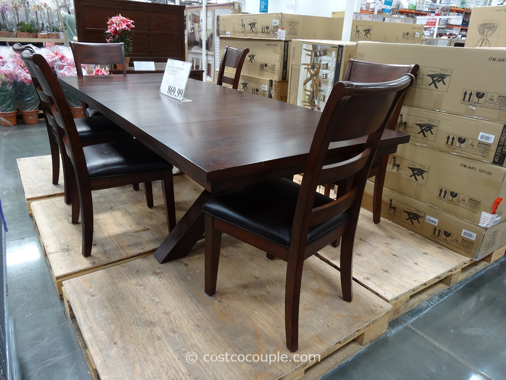 Hillsdale Furniture Bretton Grove 7-Piece Dining Set Costco  6