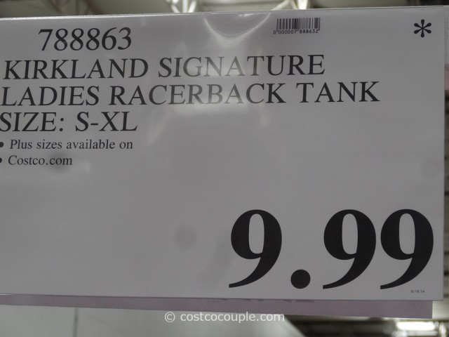 Kirkland Signature Ladies Racerback Tank Costco 1