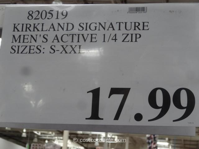 Kirkland Signature Mens Active Quarter Zip Pullover Costco 1