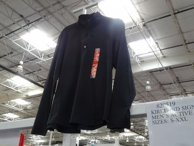 Kirkland Signature Mens Active Quarter Zip Pullover Costco 2