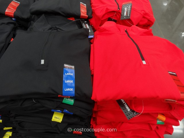 Kirkland Signature Mens Active Quarter Zip Pullover Costco 3