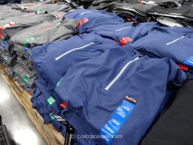 Kirkland Signature Mens Active Quarter Zip Pullover Costco 5