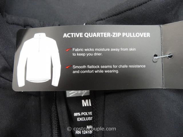 Kirkland Signature Mens Active Quarter Zip Pullover Costco 6