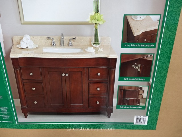 lanza products 48 inch single sink wood vanity. Black Bedroom Furniture Sets. Home Design Ideas