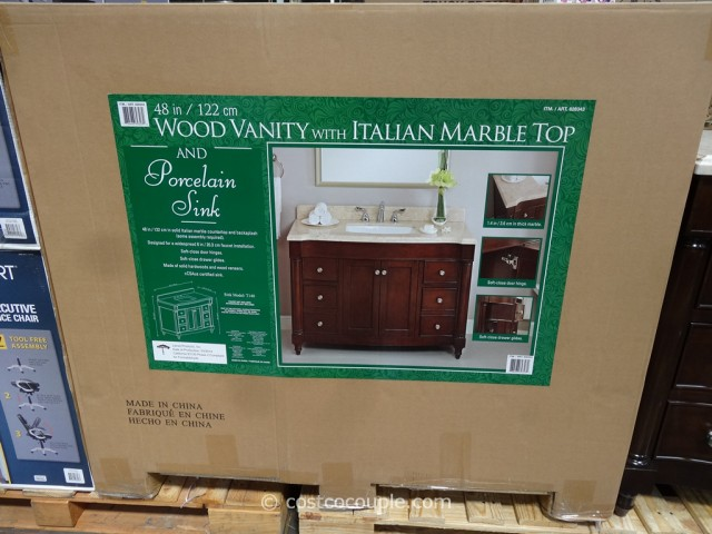 Lanza Products 48 Inch Single Sink Wood Vanity