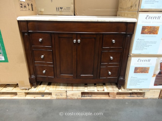 Lanza Products 48-Inch Single Sink Wood Vanity Costco 9