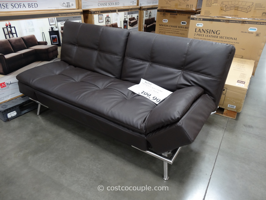 Pulaski newton chaise sofa bed reviews caroldoey for Chaise lounge costco