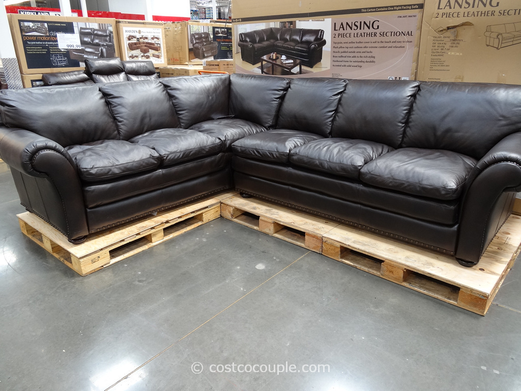 Marks and Cohen Lansing 2-Piece Leather Sectional Costco 3