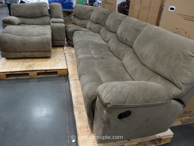 Marks and Cohen Tanner 5-Piece Motion Fabric Sectional Costco 2