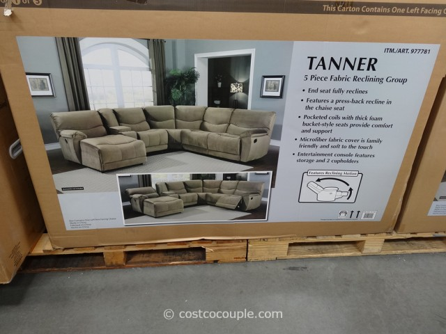 Marks and Cohen Tanner 5-Piece Motion Fabric Sectional Costco 3