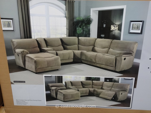Marks and Cohen Tanner 5-Piece Motion Fabric Sectional Costco 6