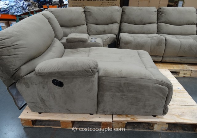 Marks and Cohen Tanner 5-Piece Motion Fabric Sectional Costco 7