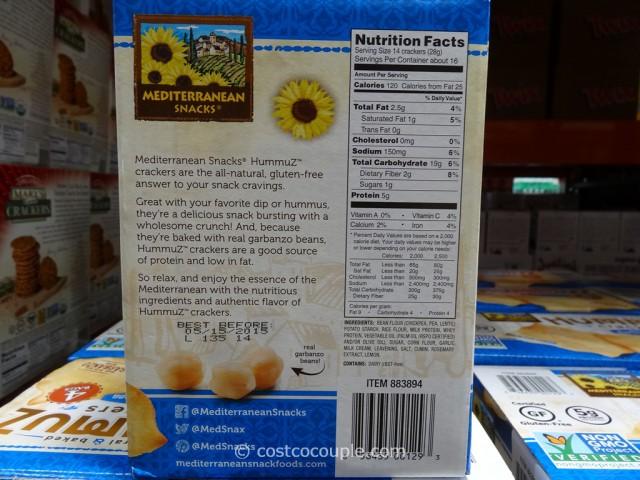 Mediterranean Snacks Hummuz Crackers Costco 2