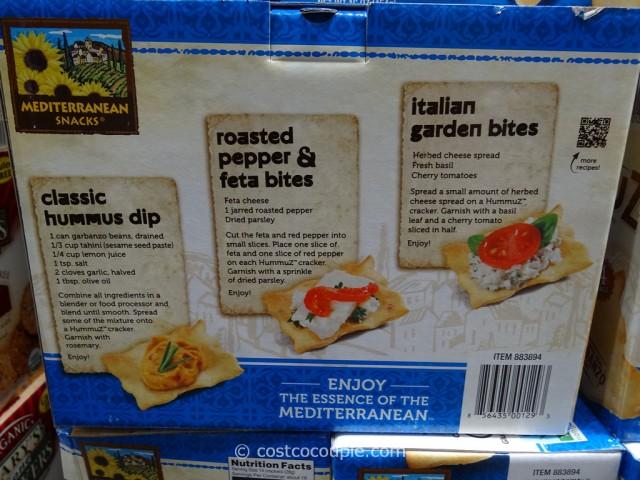 Mediterranean Snacks Hummuz Crackers Costco 3