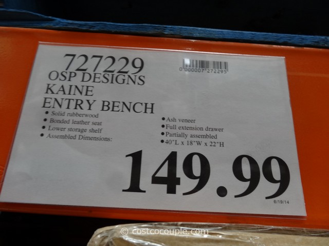 OSP Designs Kaine Entry Bench Costco 1