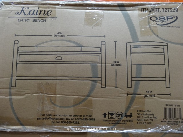 OSP Designs Kaine Entry Bench Costco 2